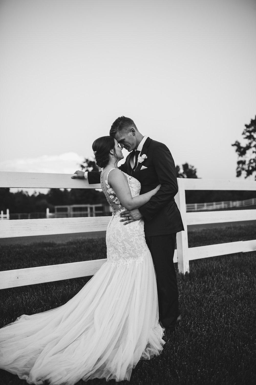 Bride and Groom Portraits at Millikan Farms | Kayli LaFon Photography