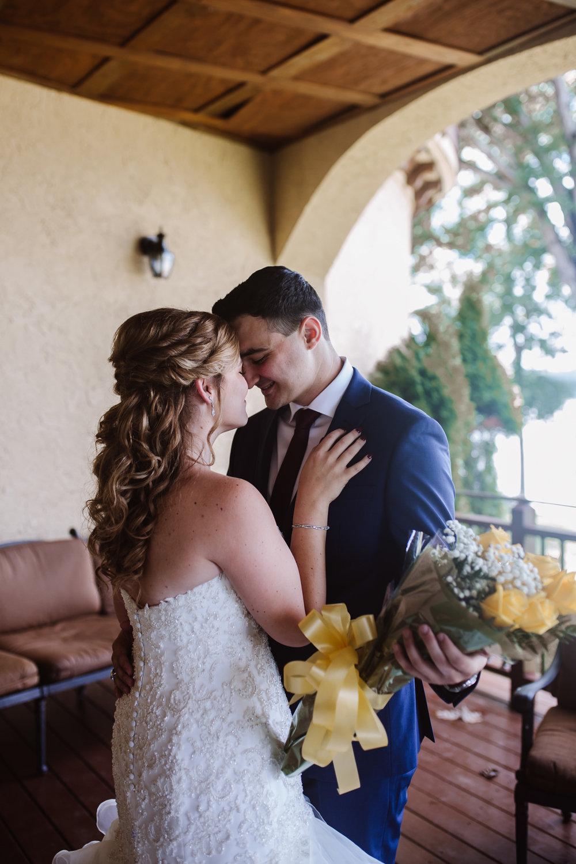 Bella Collina wedding   bride and groom first look   Kayli LaFon Photography, Greensboro Winston-Salem NC Photographer