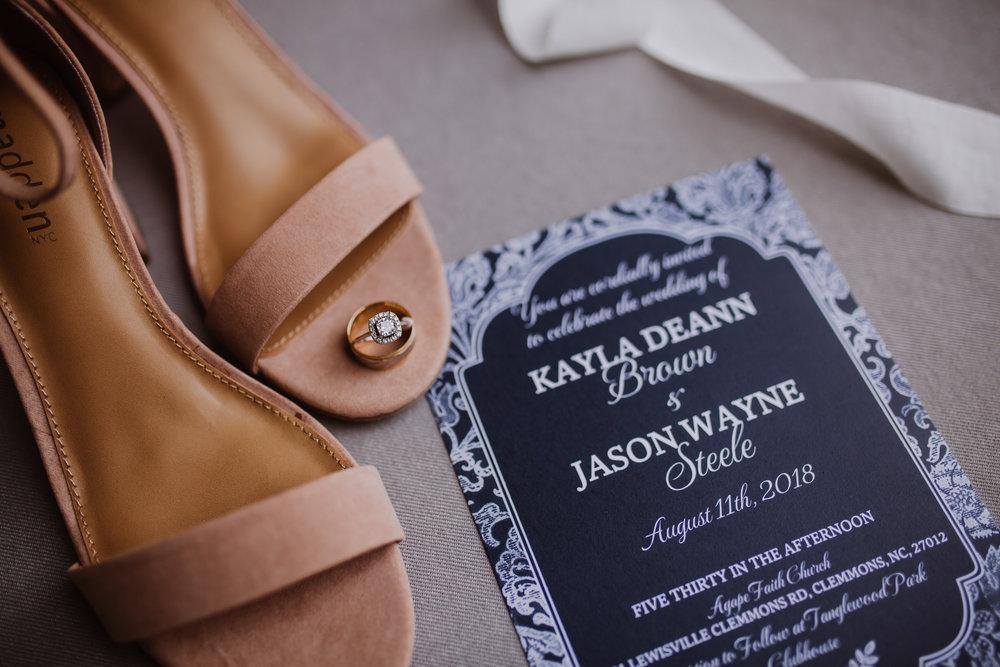 Tanglewood Wedding Details Reception & Photography | Greensboro Winston Salem, NC Photographer | By Kayli LaFon Photography