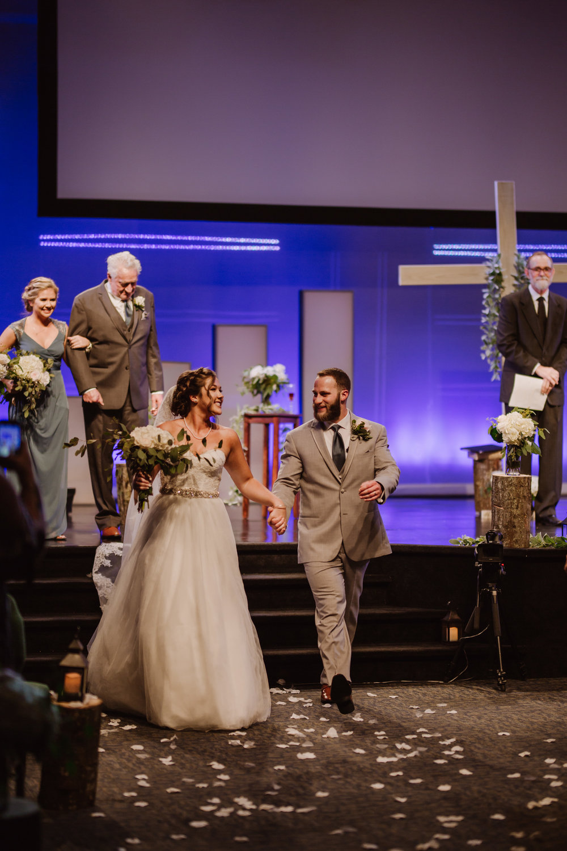 Clemmons Church Ceremony Wedding Photography | Greensboro Winston Salem, NC Photographer | By Kayli LaFon Photography