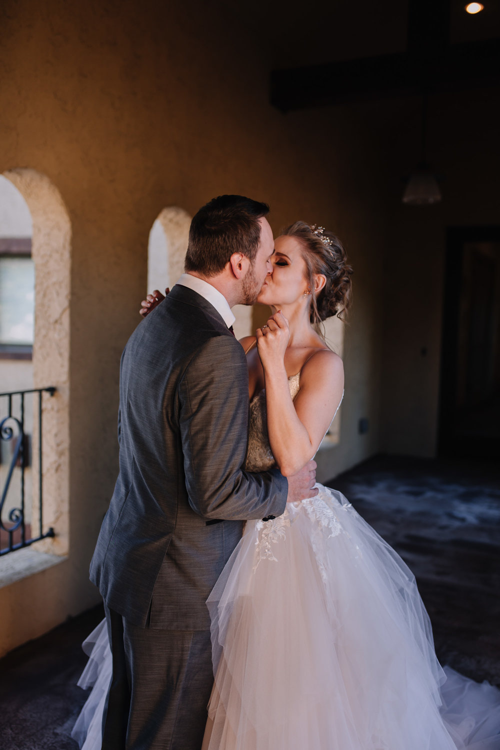 bride and groom First Look wedding photography, pro's and how to have one | Kayli LaFon Photography