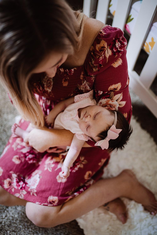 In-home newborn lifestyle session by Kayli LaFon Photography | Greensboro Winston-Salem, NC photographer