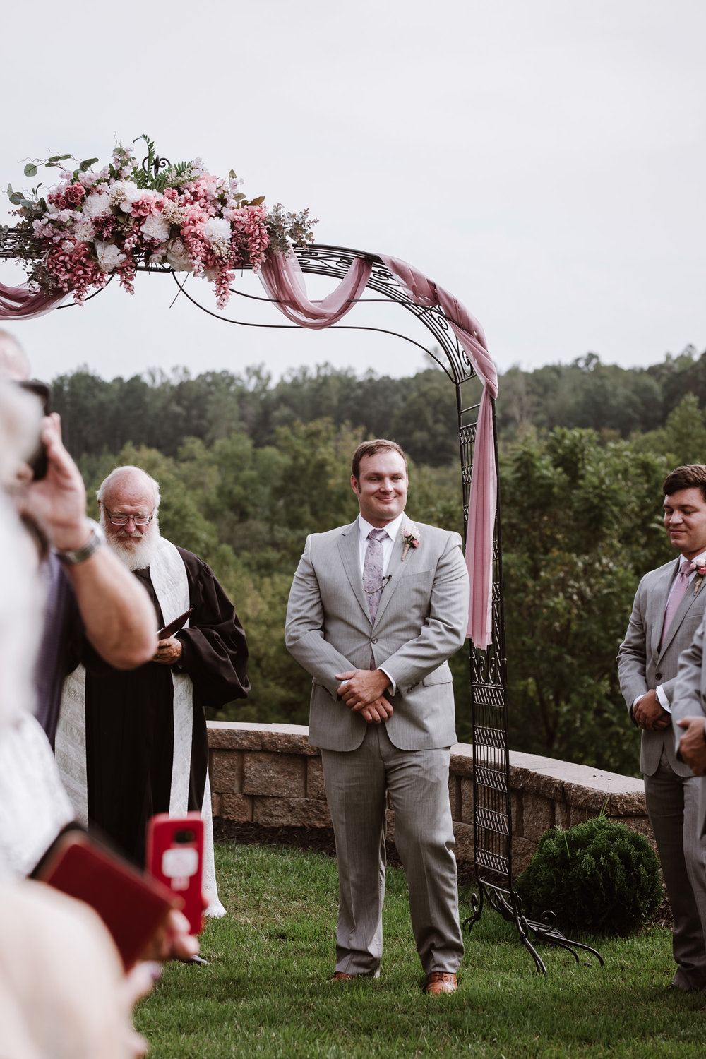 Wedding Ceremony by Kayli LaFon Photography | Greensboro Winston-Salem, NC Wedding Photographer | The Hideaway at Crooked Creek, Whitsett