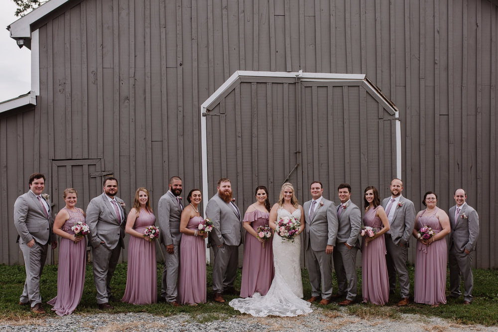 Wedding Party Photos by Kayli LaFon Photography | Greensboro Winston-Salem, NC Wedding Photographer | The Hideaway at Crooked Creek, Whitsett