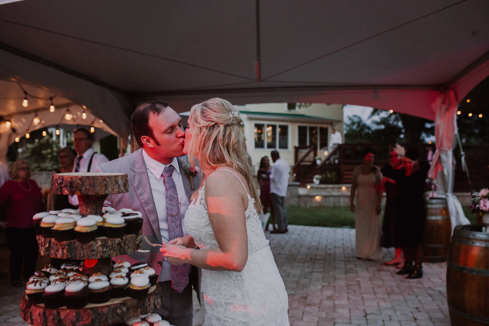 Wedding Reception details by Kayli LaFon Photography | Greensboro Winston-Salem, NC Wedding Photographer | The Hideaway at Crooked Creek, Whitsett