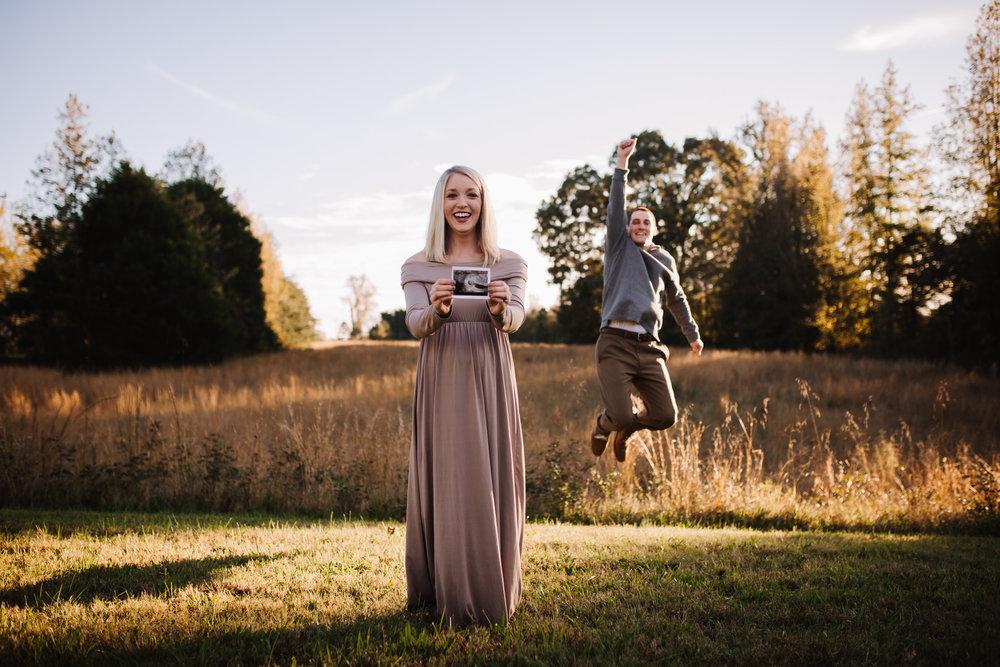Fall Pregnancy Announcement / early Maternity Session by Kayli LaFon Photography | Greensboro Winston-Salem NC Photographer