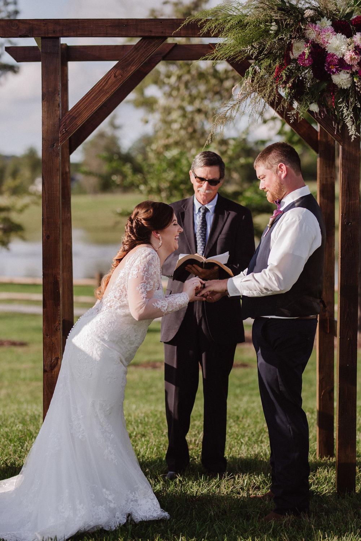 Classy, Southern, Country Wedding    ceremony at Atkinson Farms in Danville, Virginia   Greensboro Winston-Salem, NC Wedding Photographer