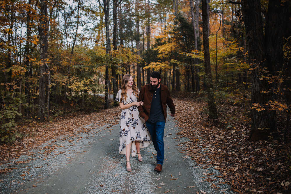 Fall Engagement Session at Timberlake Earth Sanctuary | Greensboro Winston-Salem, NC Wedding Photographer
