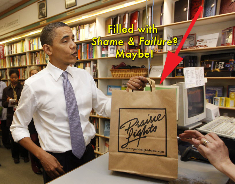This is what it would look like if the President bought my book at Prairie Lights!