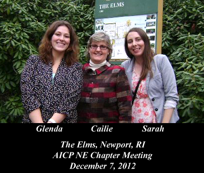 Glenda, Cailie, and Sarah at AICP NE Chapter Meeting