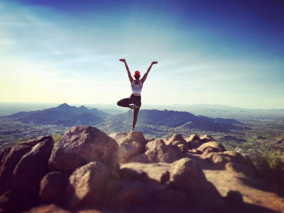 At the top of Camelback Mountain, Arizona