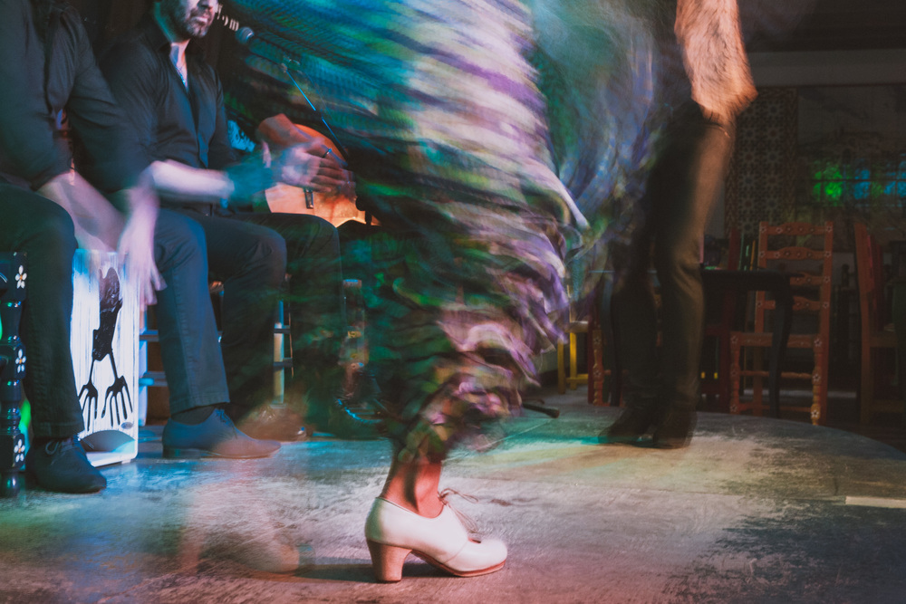 A gitana's heels. Flamenco is a whole body experience.