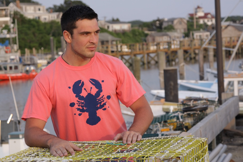Rorschach Lobster 100% ringspun cotton t-shirts, available in a variety of colors