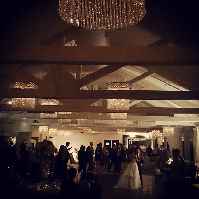 Guests Watch Bride and Groom's First Dance at Whistle Bear Golf Club