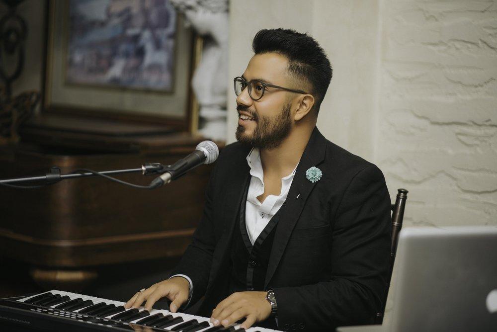 Jorge Playing Piano at Hacienda