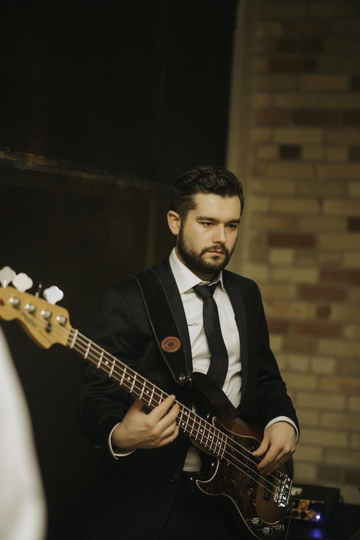J.D Smigelski playing Bass at Hacienda