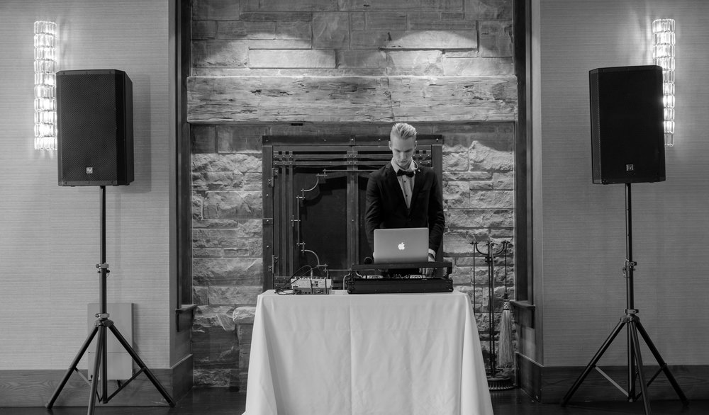 586 Event Group Wedding DJ Setup Front
