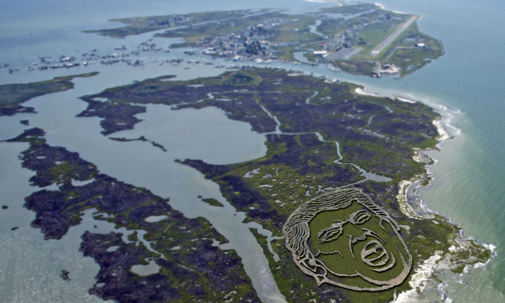 This airbase in America is under siege from rising sea levels. As the planes come into land, the views may change a little. Within 5 years Donald's face could be completely submerged. If he wants to 'Make America Great Again' he should secure the shorelines before it's too late.