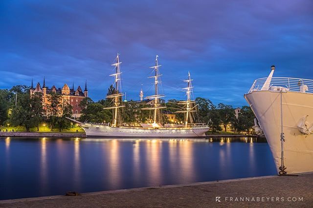 Icon of Stockholm: af Chapman  Built in 1888, she sailed her last voyage in 1934 and now lies permanently moored at Skeppsholmen. Charming memory of a bygone era.  SonyA7ii + 55mm at f/7.1, 30s, ISO 50