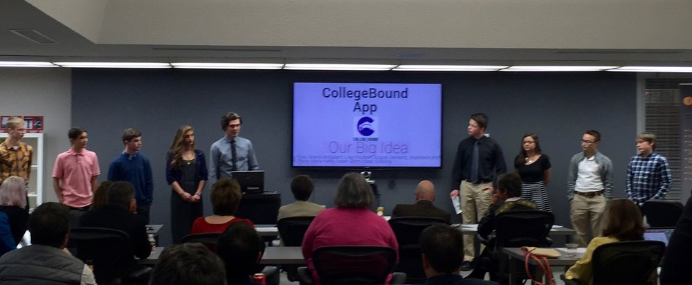Red Wing High School students pitch their startup idea to investors as a part of the Tech Entrepreneur Program in Red Wing, MN