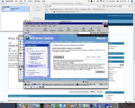 Virtual PC desktop