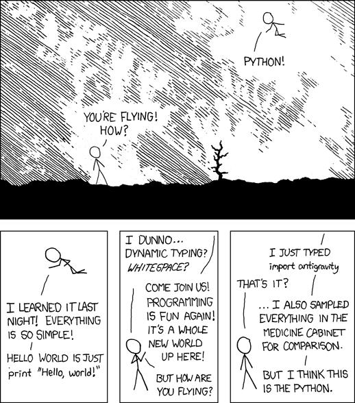 Python comic