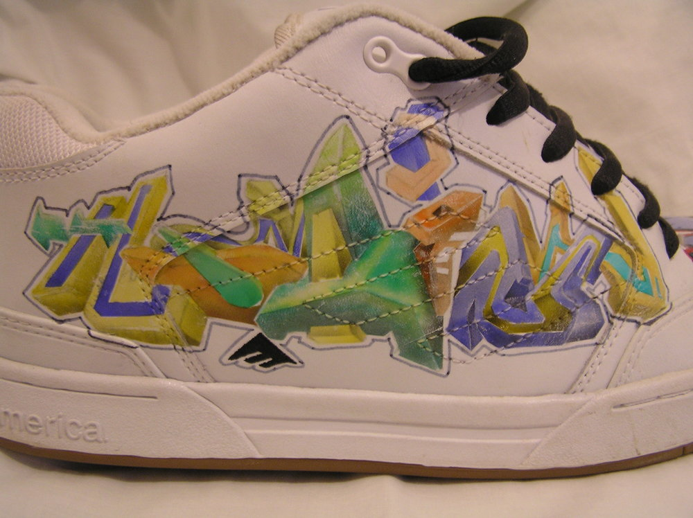 Painted Skate Shoe (Daim Design) 2004