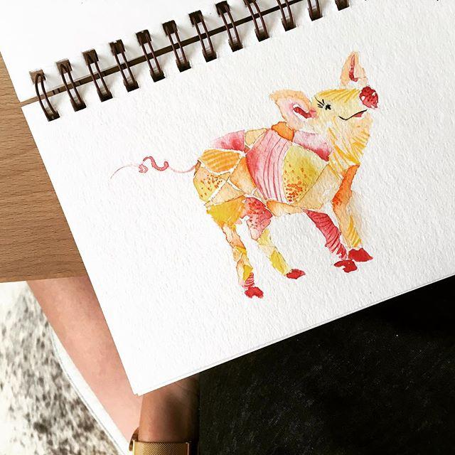 #piggy #watercolor