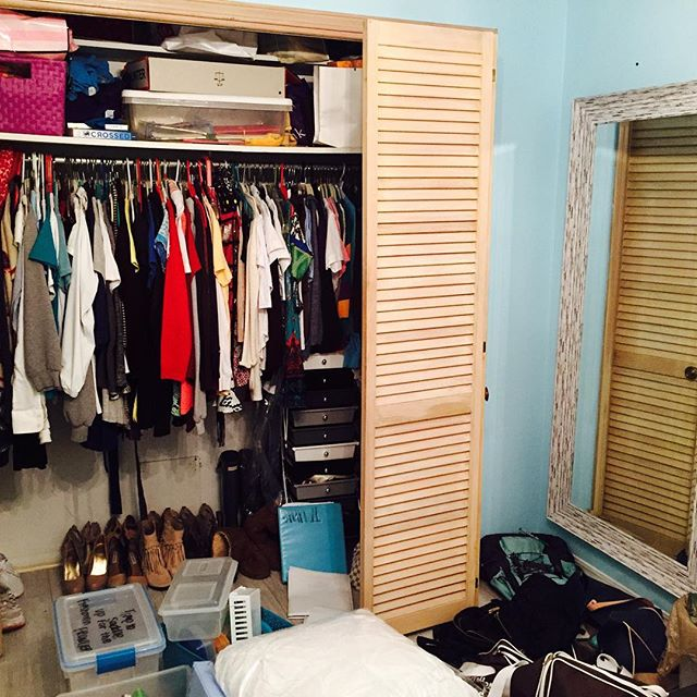 Struggling with too much stuff? #before #closet #cleartheclutter