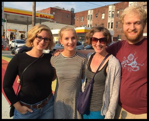 All Grown Up: Elizabeth, Eleanor, myself and Benjamin. Photo courtesy of their amazing mother Suzanne Schiffler