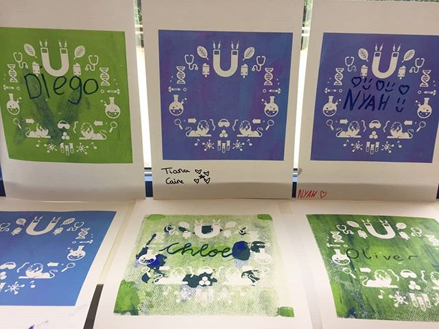 Kids had some skills this weekend. Great workshop with @imperialcollege at the @hf_artsfest. #printmaking #screenprinting #liveprinting #workshop #events #hfartsfest #imperialcollege #whitecity #communityworkshop