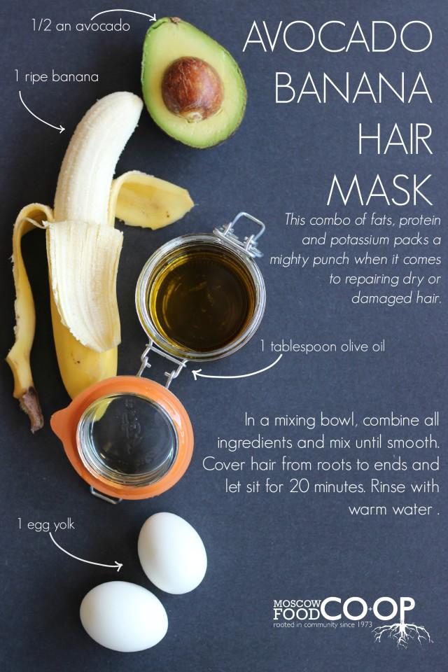 Diy Beauty Avocado Banana Hair Mask Moscow Food Co Op