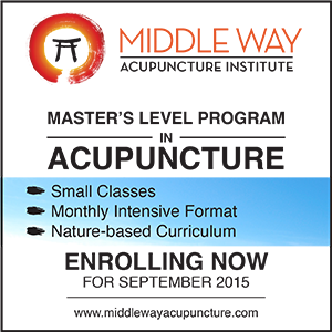 (1 year - ends 4/6/16) www.middlewayacupuncture.com