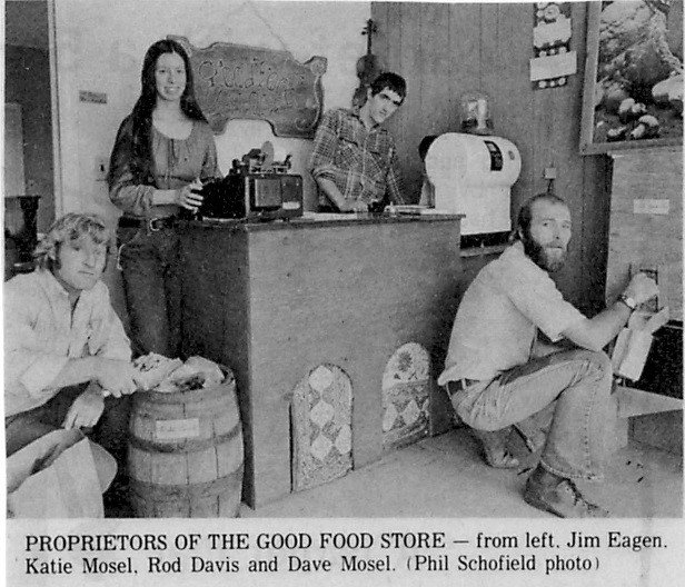 The founders of what became the Moscow Food Co-op, in 1973. Photo from the  Daily Idahonian.