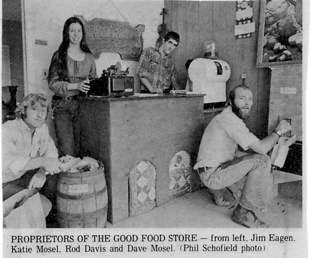 From a newspaper story about the opening of the Good Food Store.