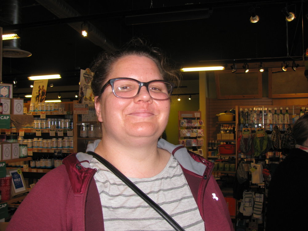 """It's easy to try new stuff here.  I can integrate healthy things into my diet.""   Emily Whistler, Pullman, WSU Grad Student"