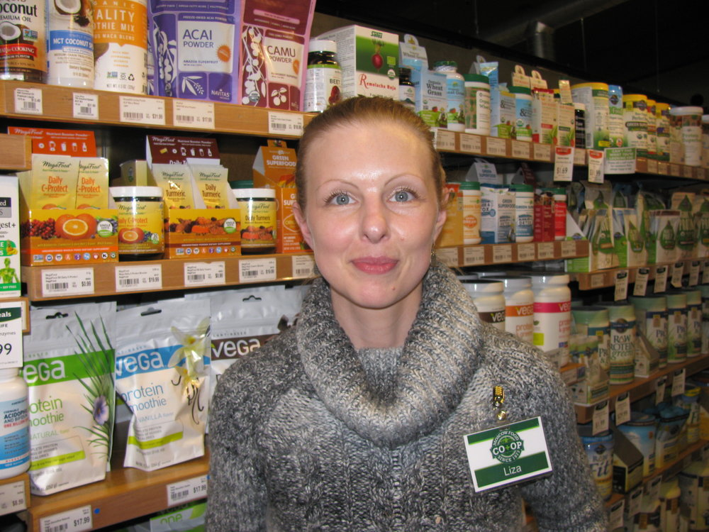 """I swear by the Daily C."" Liza Swensen, Moscow, Moscow Food Co-op Body Care Buyer"