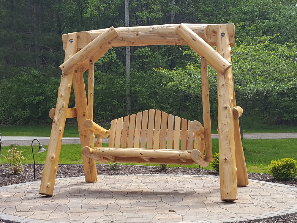 Soderlund S Wood Mill Cedar Log Swings Beds And More Made In Mn
