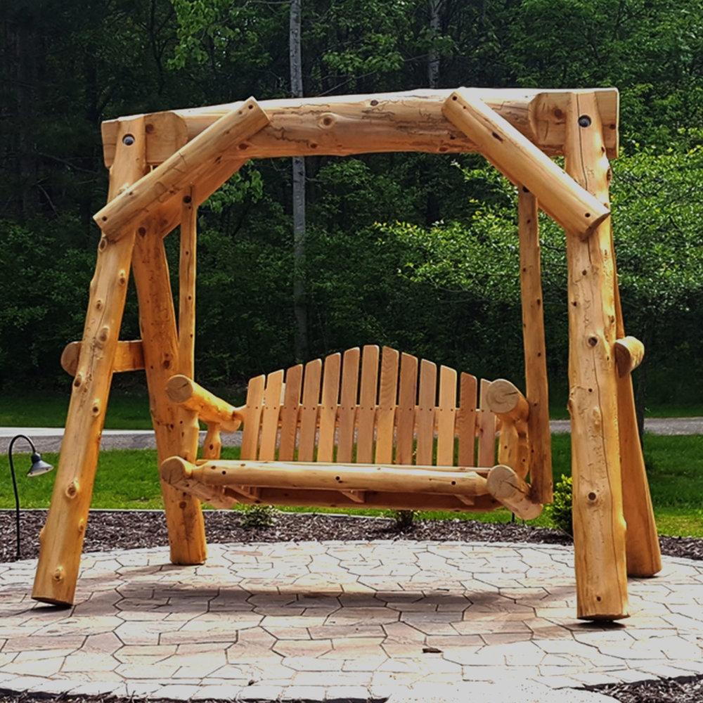 Log Swing No Text · Log Furniture