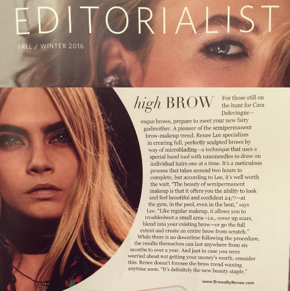 Read Renee's Feature in Luxury Fashion Magazine The Editorialist