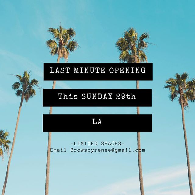 I'm in LA this weekend! Have openings available Sunday. First come first serve. 🤩😘💞🐥 #microblading #NYLA
