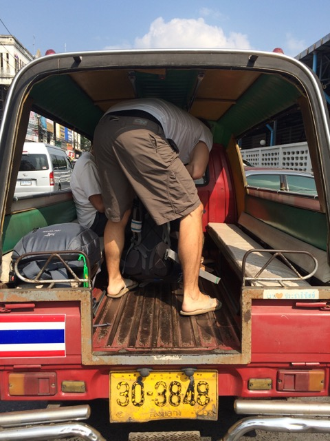 The tuk tuk was more like a truck truck... whatever works!