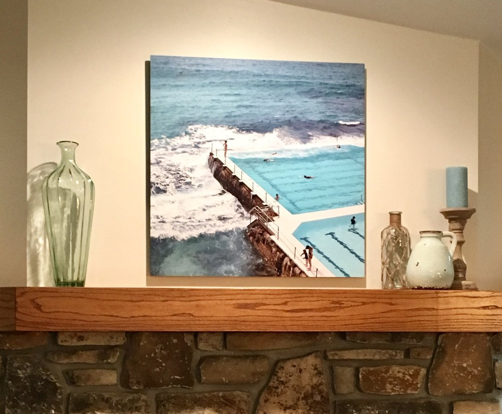Sydney Pool - hanging in a vacation home in Door County.