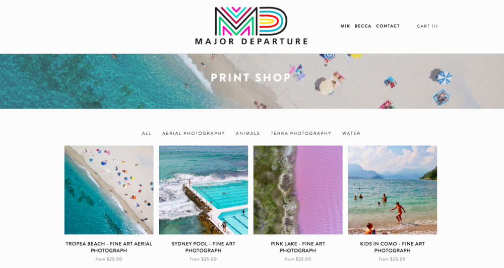 print shop main page
