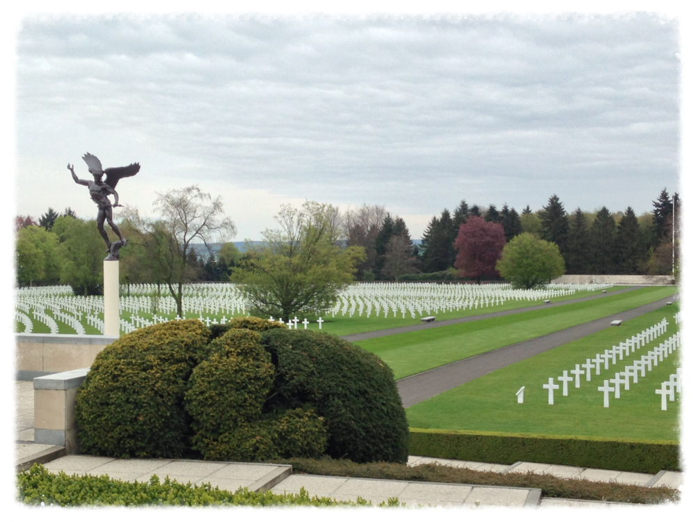 The perfectly manicured Henri-Chapelle American Cemetery and Memorial in Belgium.