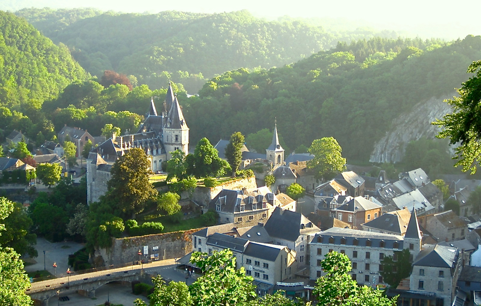 Durbuy nestled in the heart of the Ardennes Mountains.