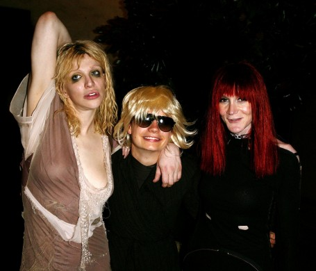 Courtney Love, JT LeRoy (Savannah) and Speedie (Laura Albert)