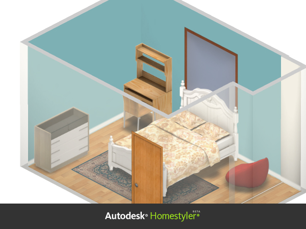 Used Homestyler for conceptual 3D furniture layout.