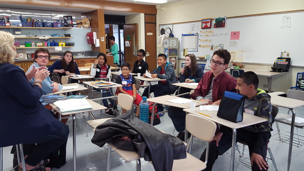 LLL Kingston Classroom! Wendy Brisley with tutors and LLL students