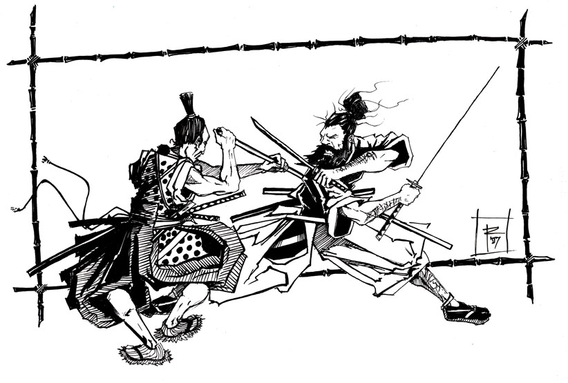 MusashiVsGonsuke)LineArtSample.jpg